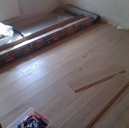Montering af gulv